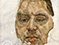 "Lucian Freud ""Francis Bacon-(Unfinished)"" 1956-1957 Oil on Canvas 35.5cm x 35"