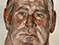 "Lucian Freud ""Head of a Big Man"" 1975 Oil on Canvas 41cmx27cm"