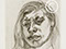 "Lucian Freud ""Head of a Girl 2"" 1982 Etching (ed of 16) 16.2cmx13cm"