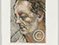 "Lucian Freud ""Head of a Man"" 1989 Pastel drawing over Etching (2 proofs) 35cmx26cm"