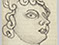 Lucian Freud 'Head of a Statue' 1944 Pencil on Paper 16.5cmx9cm