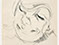 Lucian Freud 'Head of a Woman Laughing' 1954 Crayon on paper 26.3cmx17.8cm