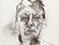 Lucian Freud 'Self Portrait' 1981 Charcoal on paper 33cmx25cm