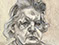 Lucian Freud 'The Painter's Mother' 1984 Charcoal and Crayon on Paper 32.4cmx24.7cm