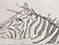 Lucian Freud 'Zebra-Unicorn' 1943 Ink on Paper 16.7cmx25.2cm
